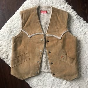 Vintage Suede Vest with Sherpa Lining by Levis